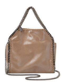 Stella McCartney Falabella Metallic Shaggy Deer Mini Tote