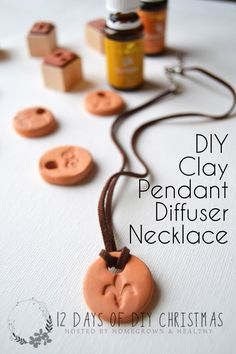 DIY terra-cotta clay pendant diffuser necklace.. perfect DIY for gift giving (or any time!)