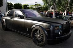 Matte Black Rolls Royce Phantom