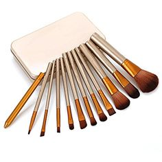 Makeup Brushes Set - Professional Bamboo Handle Kabuki Makeup Brush Foundation Blending Blush Powder Brush Cosmetics Brushes Set Comes In with Box ** Find out more about the great product at the image link. (This is an affiliate link) #BrushSets