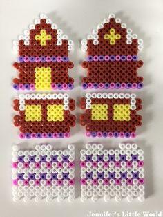DIY 3D Christmas Hama bead gingerbread house - Jennifer's Little World