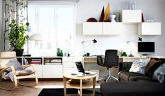 BESTA desk and storage by IKEA