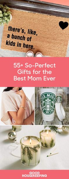 40 Thoughtful Gifts That Will Definitely Make Mom's Day The woman who taught you everything deserves more than just a store-bought card for Christmas. These thoughtful, hand-picked gifts for mom will reminder her that she raised you right. Best Gifts For Mom, Diy Gifts For Kids, Perfect Gift For Mom, Easy Gifts, Gifts For Wife, Gifts For Family, Cool Gifts, Gofts For Mom, Christmas Gifts For Mom