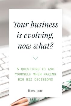 You've been in a business for a while and now you're facing growth. Whether you're facing the first phase of small business evolution or you're going through yet another growth spurt... ask yourself these 5 questions when your business is growing and you don't know what to do. These 5 questions are exactly what you need in order to know if you're in the right track towards building a business that you love. They cover everything from making smart business moves to making sure that...