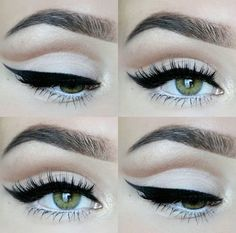 Soft cut crease, winged liner. #wingedlinermakeup #softcutcrease