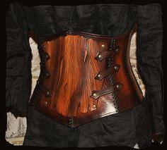 armor leather corset bark by Lagueuse.deviantart.com on @deviantART
