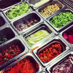 New summer ingredients in our salad bar at our St. Helena store.
