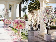 flower ideas for the outside ceremony