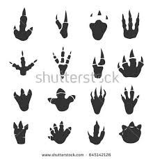 Dinosaur footprints collection on white Royalty Free Vector , Nerdy Makeup, Jurassic Park Poster, Feather Icon, Footprint Tattoo, Dinosaur Cookies, Dinosaur Silhouette, Line Art Vector, Silhouette Tattoos, Theme Background