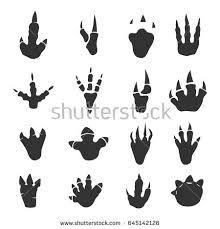 Resultado de imagen para simple dinosaur footprint silhouette