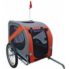 #bnew #bicycle #trailer stroller jogger pet dog orange grey #animal,  View more on the LINK: 	http://www.zeppy.io/product/gb/2/371748187708/