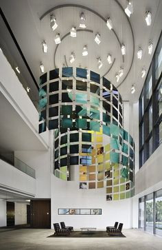 Healthcare St. Jude Hospital Lobby Chandelier, Large Healthcare Corporate Office Space #healthcare, #architecture