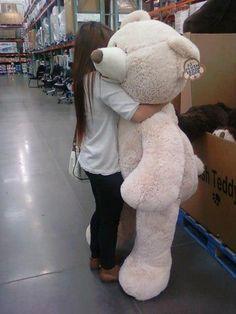 I've always wanted a huge teddy bear <3