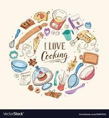 i love cooking - Google Search Kitchen Logo, Kitchen Art, Cricut Monogram Font, Baking Logo, Album Scrapbook, Love Logo, Vintage Drawing, Printable Labels, Printables