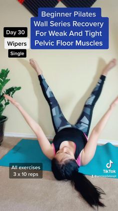 Full Body Gym Workout, Gym Workout Tips, 30 Day Workout Challenge, Fitness Workout For Women, Pilates Workout, Better Posture Exercises, Pelvic Floor Exercises, Strengthen Hips, Pilates For Beginners