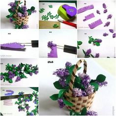How to make Paper Lilac Flower step by step DIY tutorial instructions, How to, how to make, step by step, picture tutorials, diy instructions, craft, do it yourself