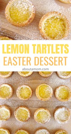 So loving these cute little lemon tartlets for an Easter dessert! An easy recipe for lemon tartlets with lemon curd. The perfect balance of sweet and sour. These bite size tarts are a perfect spring or Easter treat. Desserts Ostern, Köstliche Desserts, Lemon Desserts, Lemon Curd Dessert, Mini Dessert Recipes, Mini Lemon Tarts, Lemon Tartlets, Lemon Curd Recipe, Recipes With Lemon Curd