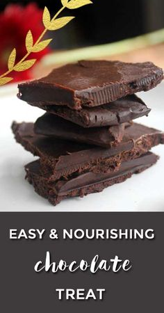 healthy chocolate for the win! homemade chocolate recipe with great taste and common ingredients. so good.