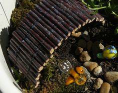 Miniature twig bridge for your fairy garden or terrarium, Made to order