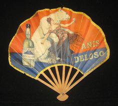 Vintage Anis Deloso paper fan on Collectors Quest