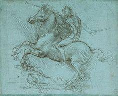 Leonardo Da Vinci - Rider on a rearing horse