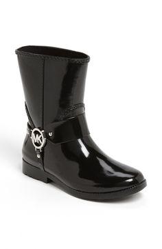 MICHAEL KORS -  Black Fulton Harness Rain Boot