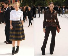 Laura Bailey and Olivia Palermo at the Burberry Prorsum SS13 LFW Show