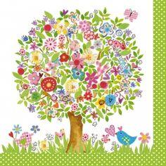 20 Serviettes Flower Tree 33 x 33 cm