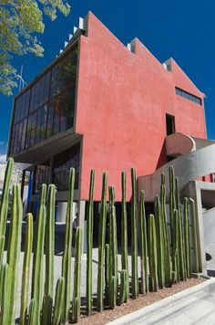 Frida and Diego's studio in Mexico city by Juan O'Gorman                                                                                                                                                                                 More