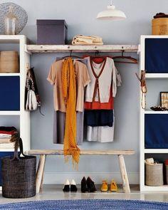 DIY Bedroom Storage - Walk By Closet