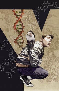 VERTIGO ESSENTIALS: Y: THE LAST MAN #1  Written by BRIAN K. VAUGHAN  Art by PIA GUERRA and JOSE MARZAN, JR.  Cover by J.G. JONES  On sale OCTOBER 30 • 64 pg, FC, $1.00 US • MATURE READERS  A science-fiction epic begins in the first issue of the hit series Y: THE LAST MAN, as a mysterious plague wipes out every male on Earth—with the exception of escape artist Yorick Brown and his pet monkey, Ampersand.