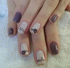 >>Click the link for more info short acrylic nails. Check the webpage to learn more~~ The web presence is worth checking out. Cute Nail Art, Cute Nails, Pretty Nails, My Nails, Heart Nails, Elegant Nails, Acrylic Nail Art, Creative Nails, Perfect Nails