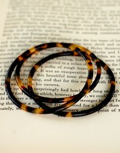 Love these Tortoise Shell bangles