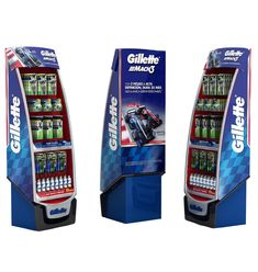 Floor Display Gillette 2up