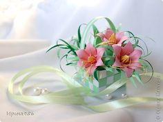 Поделка изделие Оригами Цветы в корзинке бумага Бумага фото 1