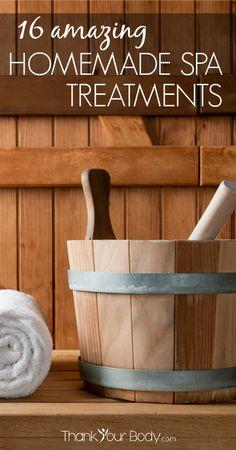 Ooh! I feel a girls' night coming on! 16 Amazing Homemade Spa Treatments #homemade #spa #naturalbeauty