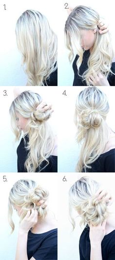 Messy side bun.