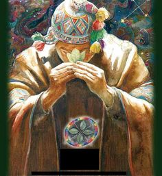 Giving thanks. To all paths. All plants. All medicine. Pachamama.