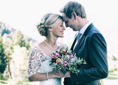 Romantische Hochzeit in den Bergen von Tirol