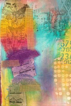 Art Journaling with Pan Pastels and Helmar; stage 2 - lots of pretty things on her site...