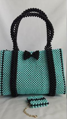 a handmade bead bag a beaded purse .a hand woven beaded | Etsy Beaded Clutch, Beaded Purses, Beaded Bags, Beaded Bracelets, Diy Purse, Clutch Purse, Handbag Tutorial, Beaded Crafts, Beading Techniques