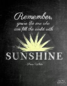 There is sunshine in my soul today!