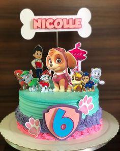 Paw Patrol Birthday Theme, Baby Girl Birthday Theme, 3rd Birthday Cakes, Paw Patrol Party, Girls Paw Patrol Cake, Paw Patrol Cupcakes, Torta Paw Patrol, Paw Patrol Decorations, Unicorn Cake Topper