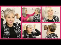 Top 6 Grey Hair Pieces: Grey Top Pieces, Grey Bangs, Scrunchie (Official Godiva's Secret Wigs Video) - YouTube Grey Hair Pieces, Silver Grey Hair, Grey Top, Scrunchies, Bangs, Cosmetology, Hair Makeup, Youtube, My Style