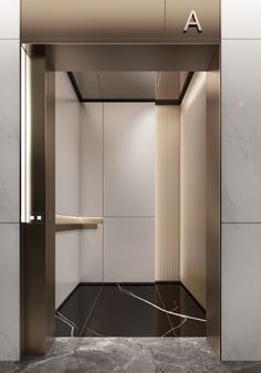 Elevator Design, Feature Wall Design, Stair Lift, Elevator Lobby, Lift Design, Lobby Design, Wall Cladding, Lobbies, Lifted Cars