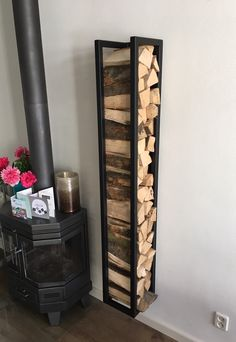 √ Best DIY Indoor Firewood Rack and Storage Ideas [Images] - Firewood storage indoor ✓ Best DIY Indoor Firewood Rack and Storage Ideas [Images] - Firewood Stand, Indoor Firewood Rack, Firewood Holder, Wood Shed, Wood Interiors, Diy Storage, Storage Ideas, Steel Furniture, Modern Rustic