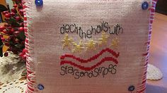 Deck the Halls Military Pillow - pinned by pin4etsy.com