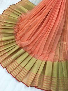 Peach saree