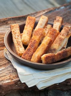 Polenta Fries are a healthy snack that seem just a little indulgent, and they're best right out of the oven. I have seen millions of v...