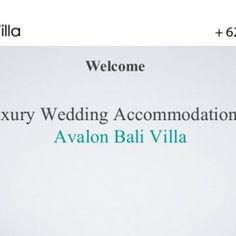 WelcomeLuxury Wedding Accommodation at Avalon Bali Villa   Location For Weddings• Beaches at Canggu area• Relaxing and perfect for intimate wedding• Magni. http://slidehot.com/resources/luxury-wedding-accommodation-at-avalon-bali-villa.48781/